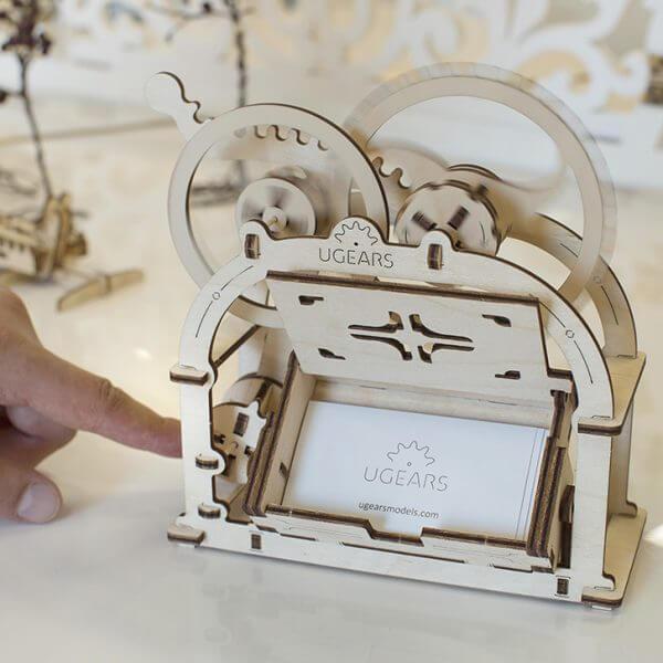 Boite mécanique, mechanical box, ugears, puzzle 3d, maquette, bois, loisirs créatifs, écologique 5
