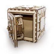 Coffre-fort, safe, ugears, puzzle 3d, maquette, bois, loisirs créatifs, écologique