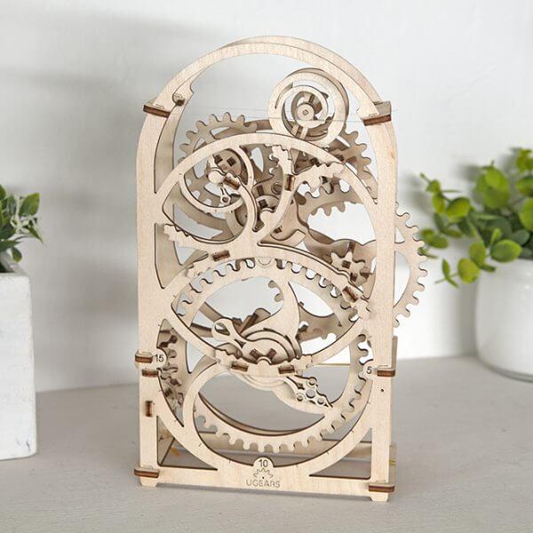 Minuteur 20 min, Timer 20 mn, ugears, puzzle 3d, maquette, bois, loisirs créatifs, écologique 5