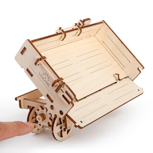 Remorque, Trailer, ugears, puzzle 3d, maquette, bois, loisirs créatifs, écologique 2