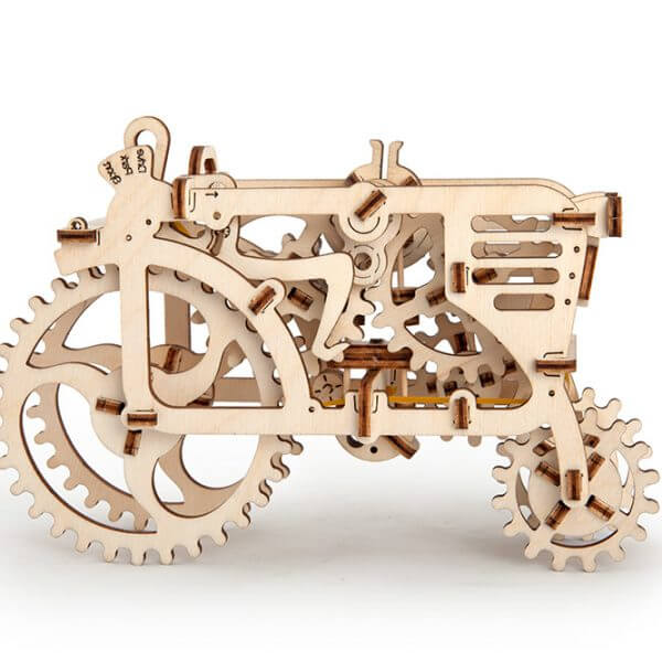 Tracteur, Tractor, ugears, puzzle 3d, maquette, bois, loisirs créatifs, écologique