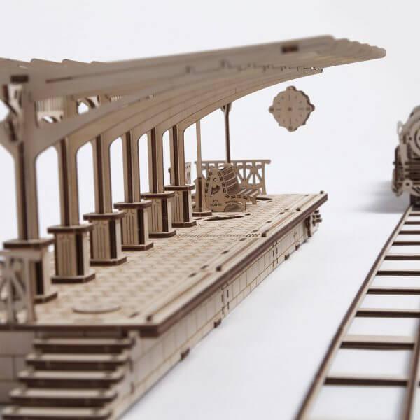 Perron de gare, ugears, puzzle 3d, maquette, bois, loisirs créatifs, écologique 13
