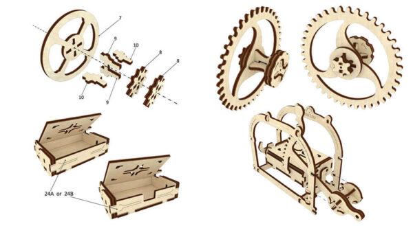 Boite mécanique – Puzzle 3d Mécanique en bois – Ugears France + 5