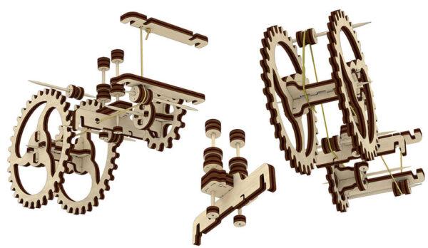 Tracteur – Puzzle 3d Mécanique en bois – Ugears France + 8