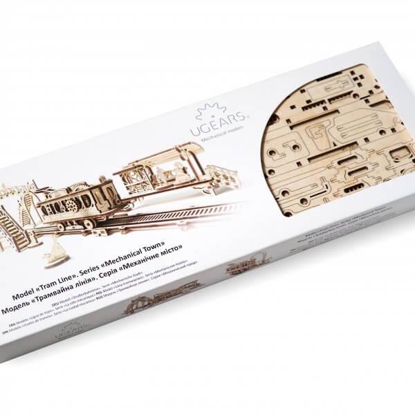 Ligne de Tram – Puzzle 3D Mécanique en bois – Ugears France 1
