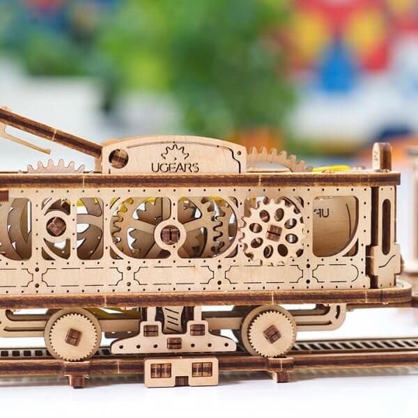 Ligne de Tram – Puzzle 3D Mécanique en bois – Ugears France 22
