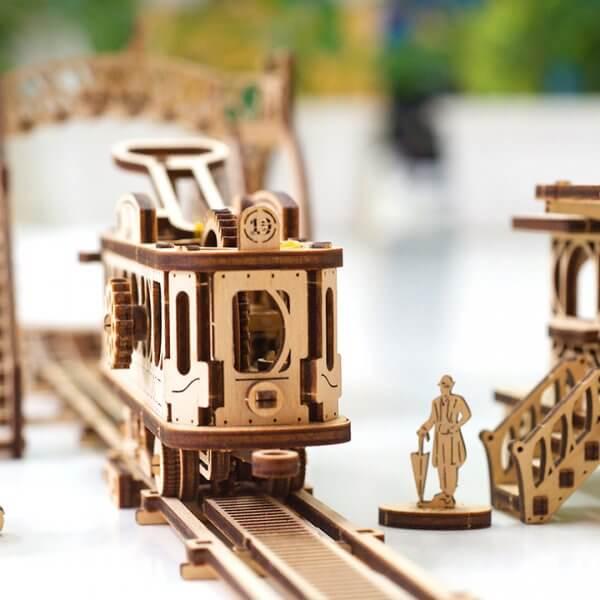 Ligne de Tram – Puzzle 3D Mécanique en bois – Ugears France 28
