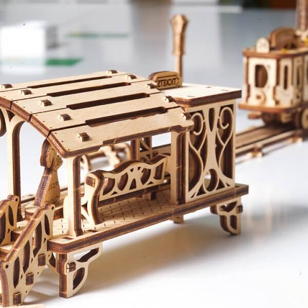 Ligne de Tram – Puzzle 3D Mécanique en bois – Ugears France 38