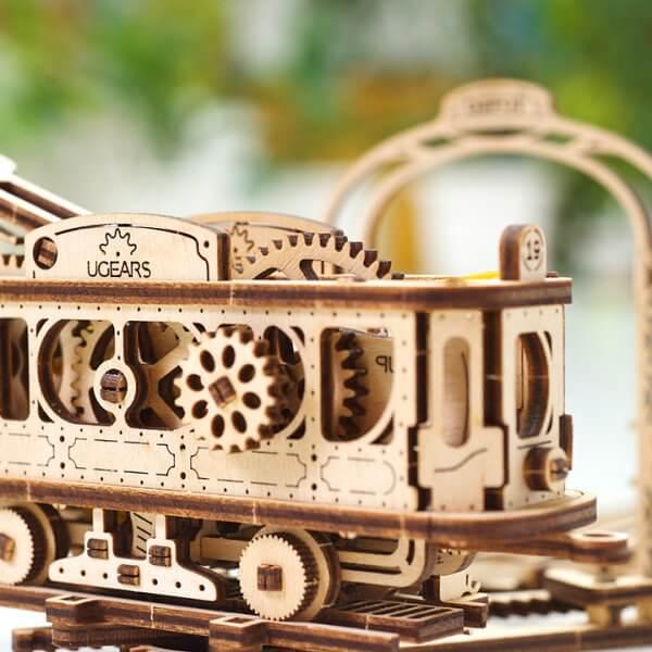 Ligne de Tram – Puzzle 3D Mécanique en bois – Ugears France 42