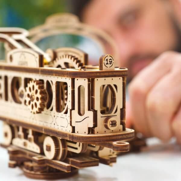 Ligne de Tram – Puzzle 3D Mécanique en bois – Ugears France 44