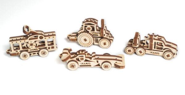 U-Fidget Véhicules – Puzzle 3d Mécanique en bois – Ugears France