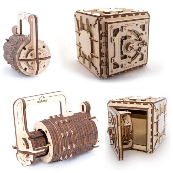 Pack « La Cryptologie du Bois » – Puzzles 3D Mécaniques – Ugears France