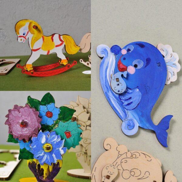 Pack peindre cheval bascule famille baleine bouquet de fleurs uge - Idee bouquet de fleur ...
