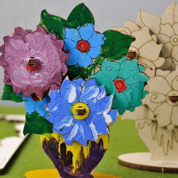 Bouquet-de-fleurs-–-Puzzle-3d-Mécanique-en-bois-à-peindre-–-Ugears-France-Title-Photo-in-Catalogue