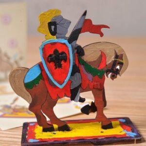 Chevalier-–-Puzzle-3d-Mécanique-en-bois-à-peindre-–-Ugears-France-3
