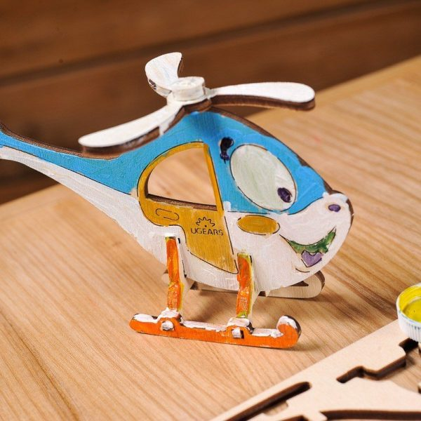 Hélicoptère-–-Puzzle-3d-Mécanique-en-bois-à-peindre-–-Ugears-France-6