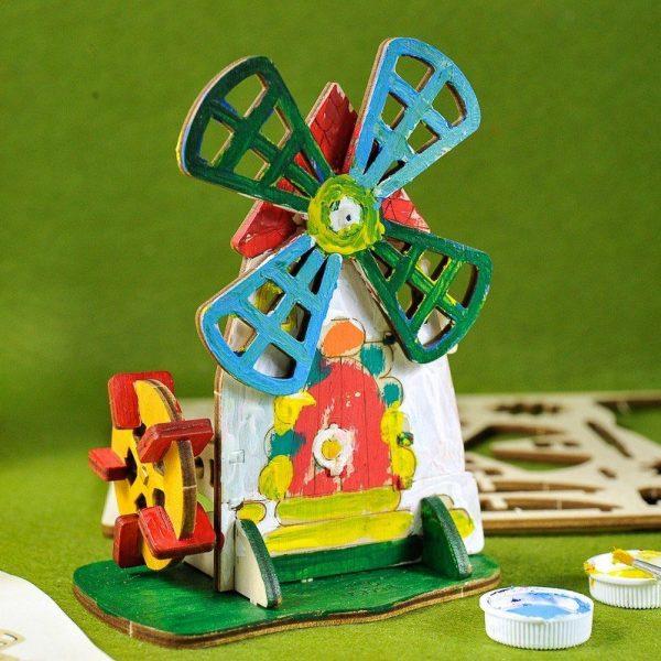 Moulin-–-Puzzle-3d-Mécanique-en-bois-à-peindre-–-Ugears-France-9