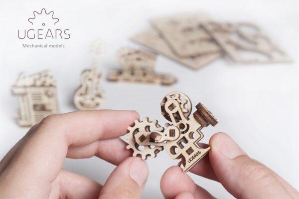 U-Fidget Creation – Puzzle 3d Mécanique en bois – Ugears France + 4