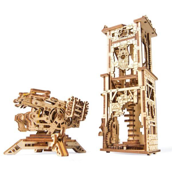 Arbalète à Tour – Puzzle 3D Mécanique – Ugears France