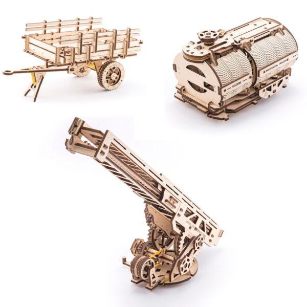 """Pack """"Rouler des Mécaniques"""" – Puzzles 3D Mécaniques – Ugears France + 9"""