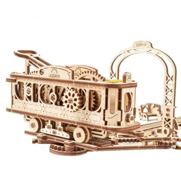 Ligne de Tram – Puzzle 3D Mécanique en bois – Ugears France