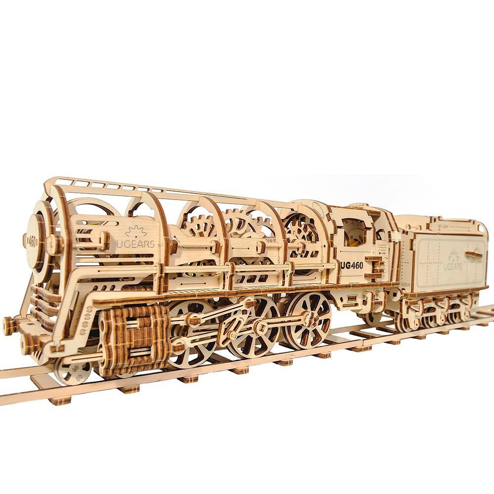 Locomotive - Puzzle 3d Mécanique en bois - Ugears France