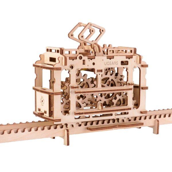 Tram – Puzzle 3d Mécanique en bois – Ugears France