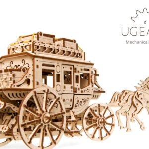 Diligence-Ugears-puzzle 3d mécanique en bois