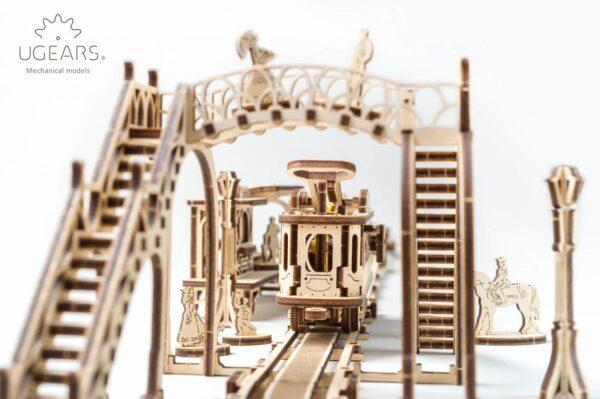 Ligne de Tram – Puzzle 3D Mécanique en bois – Ugears France + 1