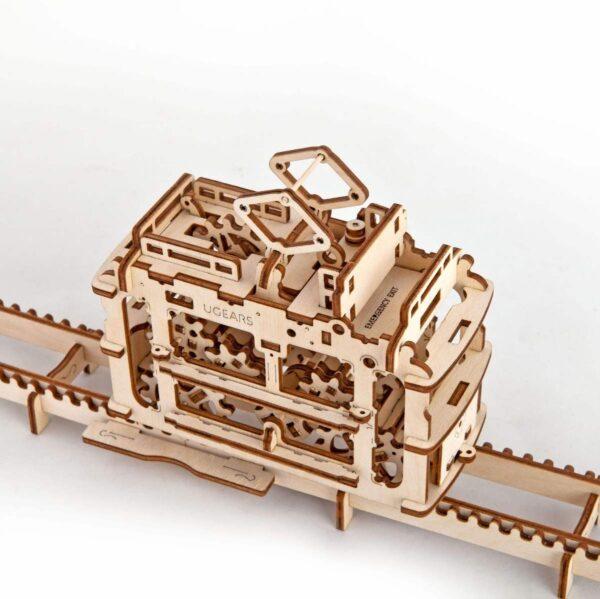 Tram – Puzzle 3d Mécanique en bois – Ugears France + 3