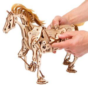 Cheval Mécanoïde-Ugears-puzzle 3d mécanique en bois
