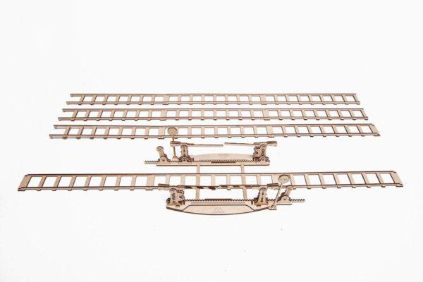 Rails + Passage à niveau – Puzzle 3d Mécanique en bois – Ugears France + 2