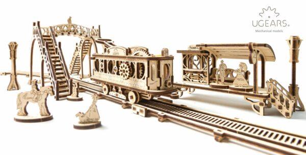 Ligne de Tram – Puzzle 3D Mécanique en bois – Ugears France + 2