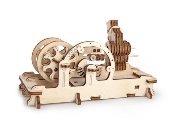 Moteur Pneumatique – Puzzle 3d Mécanique en bois – Ugears France + 2