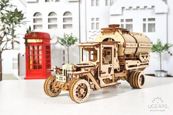 Camion Citerne – Puzzle 3d Mécanique en bois – Ugears France + 4