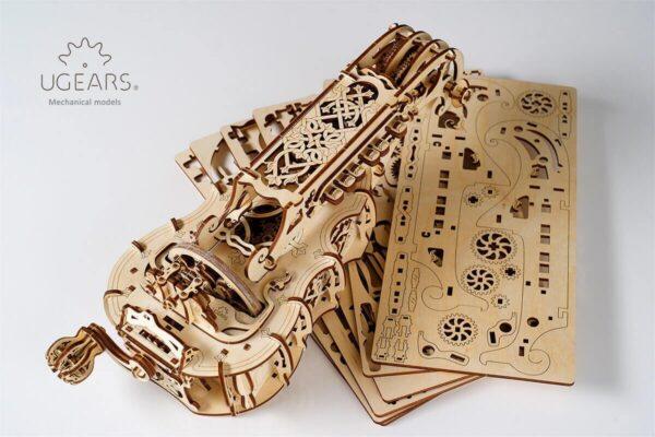 Vielle à Roue Ugears – Puzzle 3d en bois + 4