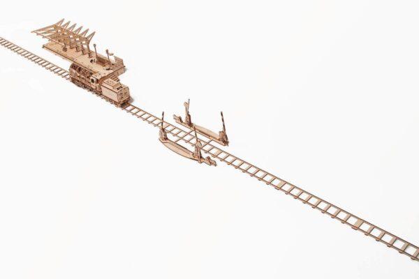 Rails + Passage à niveau – Puzzle 3d Mécanique en bois – Ugears France + 3