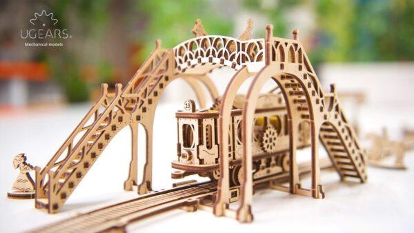 Ligne de Tram – Puzzle 3D Mécanique en bois – Ugears France + 3