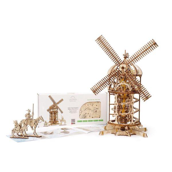 Moulin à Vent Ugears – Puzzle 3d en bois + 5