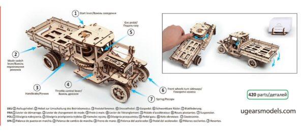 Camion UGM 11 – Puzzle 3d Mécanique En Bois – Ugears France + 3