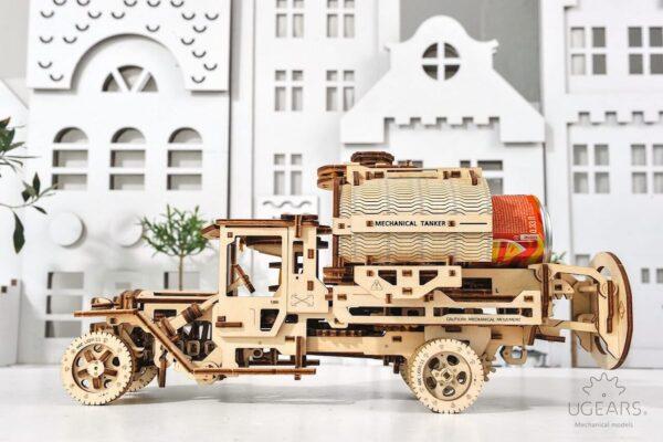 Camion Citerne – Puzzle 3d Mécanique en bois – Ugears France + 5