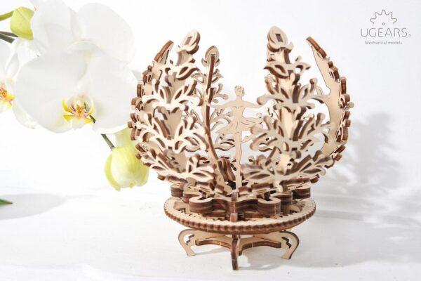 La Fleur Lila – Puzzle 3d Mécanique en bois – Ugears France + 4