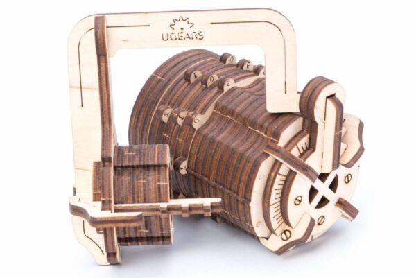 Serrure Cryptex Ugears – Puzzle 3d en bois + 4