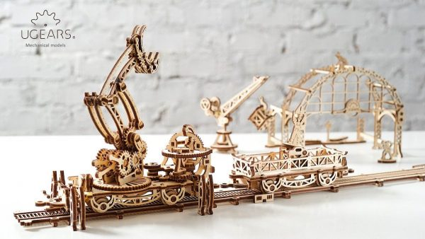 Manipulateur Ferroviaire – Puzzle 3d Mécanique en bois – Ugears France + 5