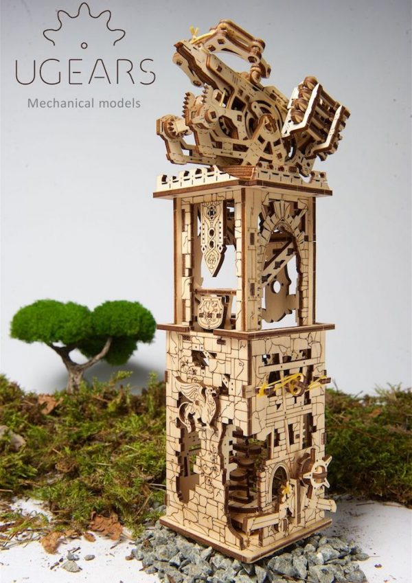 Arbalète à Tour – Puzzle 3D Mécanique – Ugears France + 5