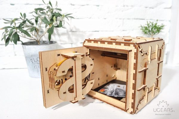 Coffre-Fort Ugears – Puzzle 3d en bois + 6