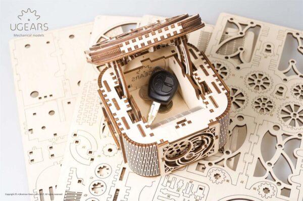 Écrin à Secrets Ugears – Puzzle 3d  en bois + 5