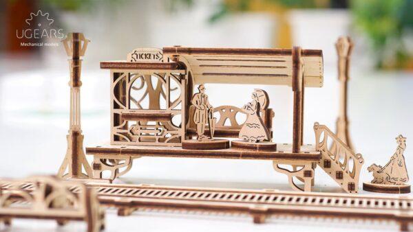 Ligne de Tram – Puzzle 3D Mécanique en bois – Ugears France + 5