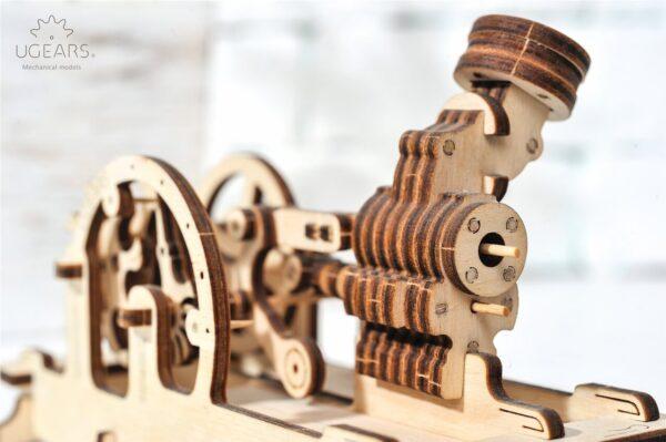 Moteur Pneumatique – Puzzle 3d Mécanique en bois – Ugears France + 5