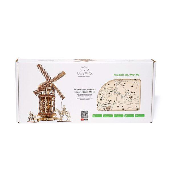 Moulin à Vent Ugears – Puzzle 3d en bois + 6